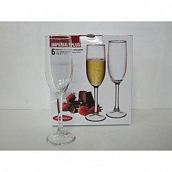 Бокал для шампанского 155мл 6шт Imperial Plus 44819