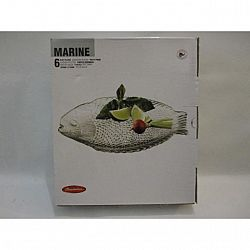 Тарелка овальная 260*210мм Marine 6шт10257