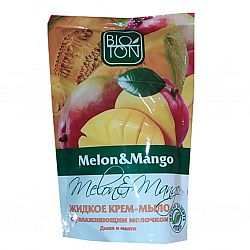 Крем мыло 500мл с увл.мол. Дыня и манго (дой-пак)