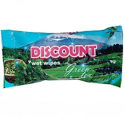 Влажные салфетки  Discount с аром. зеленого чая 15шт