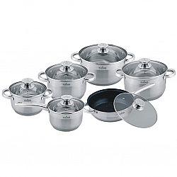 Набор посуды 12 пр (сковородка мрамор. керамика d-24+ковш 1,5л+4 кастр. 1,5л-2,0л-3,0л-5,0л) MK-3512А