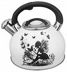Чайник с свистком из нержав. стали, на 3,0л МК-13010 (рисунок-хамелеон)