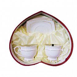 506710 Набор 4-х предметный чайный (2чашки 280мл с блюдцами) Снежная королева