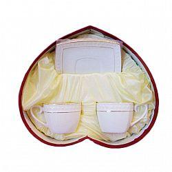 507009 Набор 4-х предметный чайный (2чаш.квад.240мл с блюдцами) Снежная королева