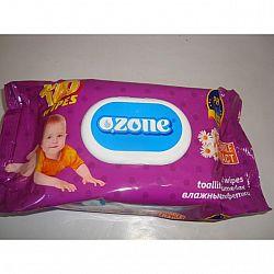 Влажные салфетки  OZONE алоэ 120шт КЛАПАН