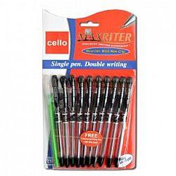 Ручка масляная MAXRITER Cello черная 10шт 0762/240001Ч
