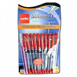 Ручка масляная MAXRITER Cello красная 10 шт0762/240001К