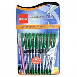 Ручка масляная MAXRITER Cello зеленая 10 шт 0762