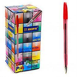 Ручка шариковая 927 BEIFA Original красная