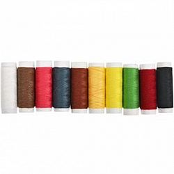 Набор ниток цветных, №40,10 штук/упаковка