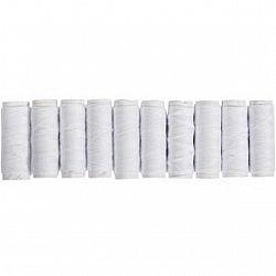 Набор ниток белых, № 40,10 штук/упаковка