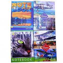 Блокнот-Тетрадь А5 144 листов с закладкой твердая обложка «Коленкор»