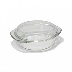 4126-2Жаропрочная стеклянная кастрюля объемом 1,0 л
