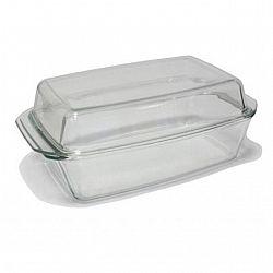 8102 Жаропрочная стеклянная кастрюля прямоуг. формы объем 3,0 л