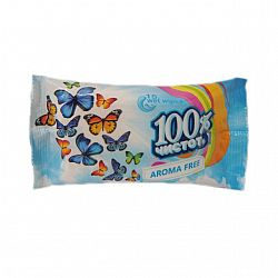 Влажные салфетки  100% чистоты Без запаха15шт