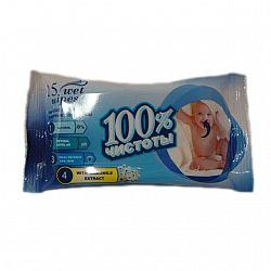 Влажные салфетки  100% чистоты Ромашка15шт