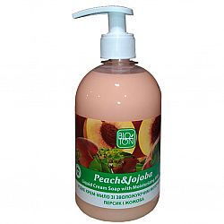 Крем мыло 500мл Персик и жожоба с увл. молочком доз