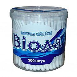 Палички гігієнічні Biола кругла уп. 200шт
