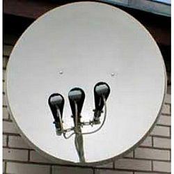 Спутниковая антенна на 3 спутника 1 телевизор