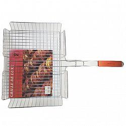 Решетка метал. с дерев.ручкой для барбекю 65*41*32*6.5см