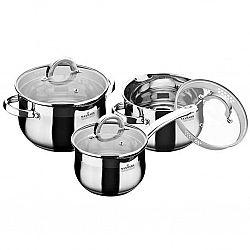Набор посуды 6 пр (Ковш 1,5л+Кастрюли 2.0л+3.0л, 5сл.капсула, мерная шкала) MK-BL6506D