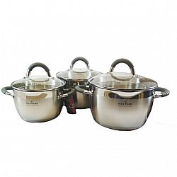 Набор посуды 6 пр (3 каст.2,0л+3,0л+4.0л, 5сл.капсула, мерная шкала)MK-VS5506A