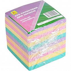 Блок для записей офсетный Цветной 90*90*90