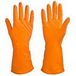 Перчатки резиновые оранжевые M
