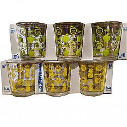 """Набір склянок """"JUICE"""" мікс квітів 6шт*250мл низькі"""