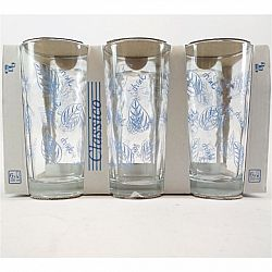 """Набір склянок """"DRINK"""" мікс кольорів 6шт * 200мл"""