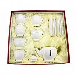 PT 0111-А Сервиз 13-пр.чайный (6чашек круглые 280мл + 6 блюдец+заварник 850 мл) Снежная королева