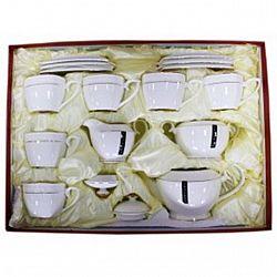 PT 0115-А Сервиз 15-пр.чайный (6чашек квадрат 280мл+6блюдец+заварник850мл+сахарница+молочник)