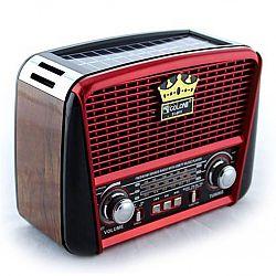 Радиоприёмник радио NNS NS-1556 S (ретро дизайн+солн.батарея)
