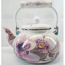 Чайник 2.0л эмалированный с керам.ручкой Zauberg 5/LG Розовая Орхидея