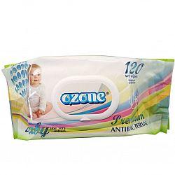 Влажные салфетки  OZONE Premium алоэ 120шт КЛАПАН