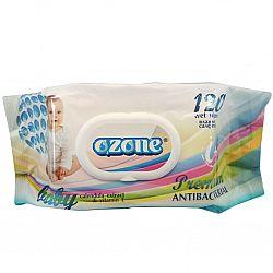Влажные салфетки  OZONE Premium Витамин Е 120шт КЛАПАН