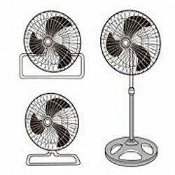 Вентилятор многофункциональный Opera Digital серебро-черный 3 скорости 45Вт 2шт/ящ