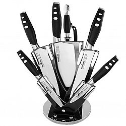 МК-К05 Набор ножей 8 предметов на веерной вращающейся подставке