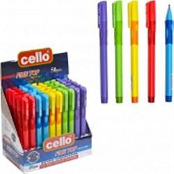 Ручка масляная CELLO 1361 тренажер правша синяя