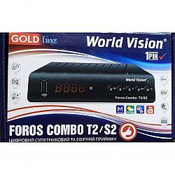 Т2 ресивер+спутниковый тюнер FOROS COMBO T2/S2