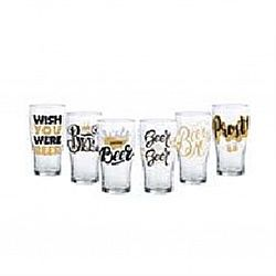 "Бокал для пива TULIPE ""Drink BEER"" декор 570мл"