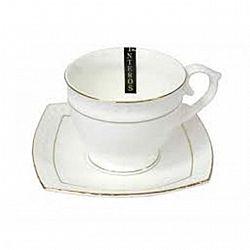 506710-A Чашка чайная круглая фарфор.280мл с блюдцем в запайке Снежная королева