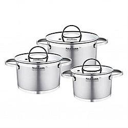 Набор посуды 6 пр (каст. 1.5л+каст 2л+каст.3л) MK-FL-3306H