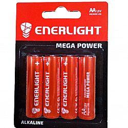 Батарейка ENERLIGHT MEGA POWER R6 щелочные 4шт блистер