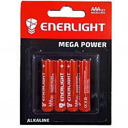 Батарейка ENERLIGHT MEGA POWER R3 щелочные 4шт блистер
