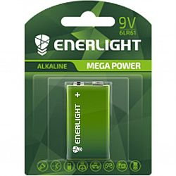 Батарейка ENERLIGHT MEGA POWER R61(крона) щелочные 1шт блистер