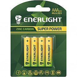 Батарейка ENERLIGHT SUPER POWER R3 солевые 4шт блистер