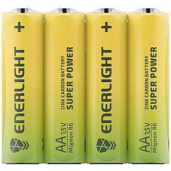 Батарейка ENERLIGHT SUPER POWER R6 солевые 4шт п/у