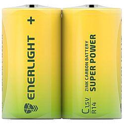 Батарейка ENERLIGHT SUPER POWER R14 солевые 2шт п/у