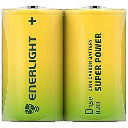 Батарейка ENERLIGHT SUPER POWER R20 солевые 2шт п/у